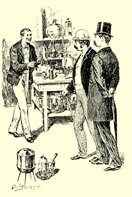 Holmes in laboratory