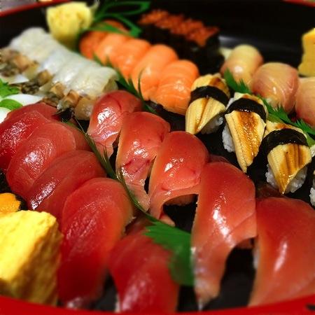 去年日本で食べた寿司