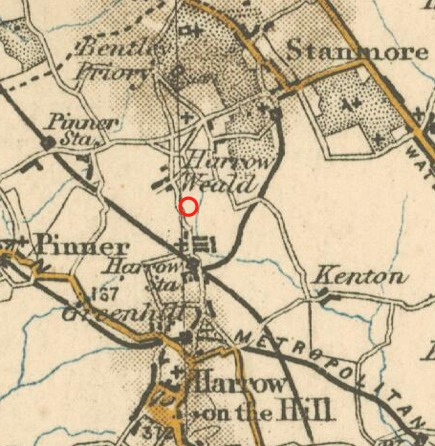Davies Location in 1902map