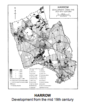 Harrow development fromthemid 19th century