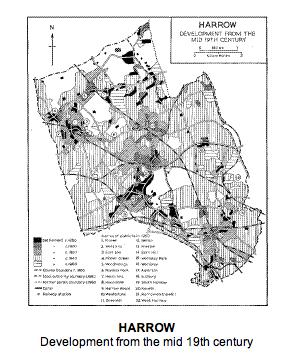 Harrow development fromthemid 19th century