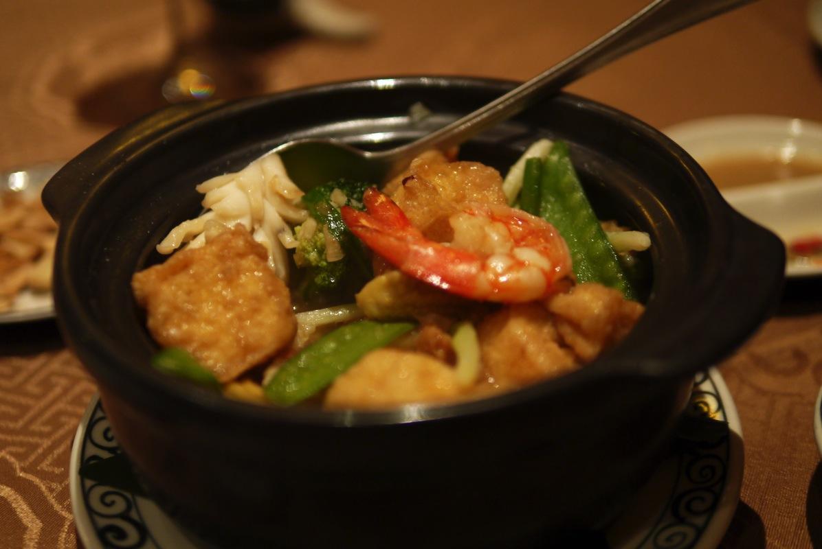 豆腐とシーフード