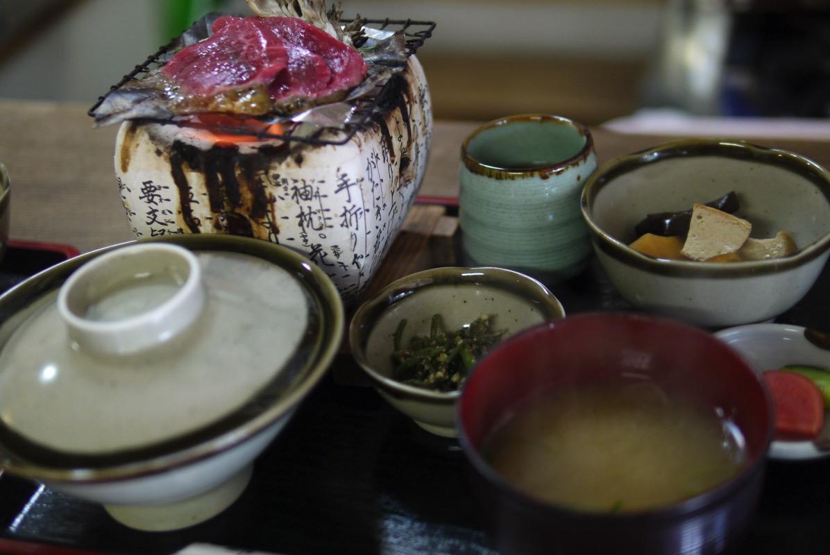 飛騨牛朴歯味噌焼き定食