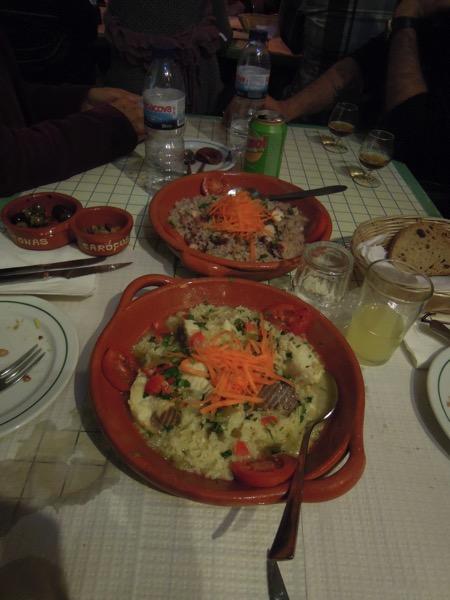 ファド酒場の食事
