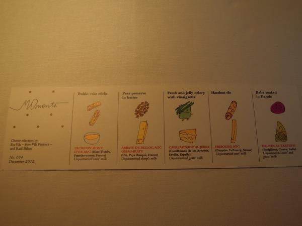 チーズと付け合わせガイド