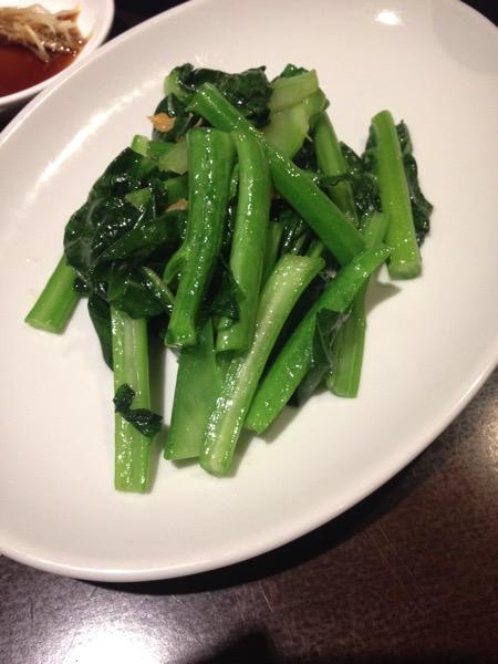 京鼎樓台湾野菜の干しエビ炒め