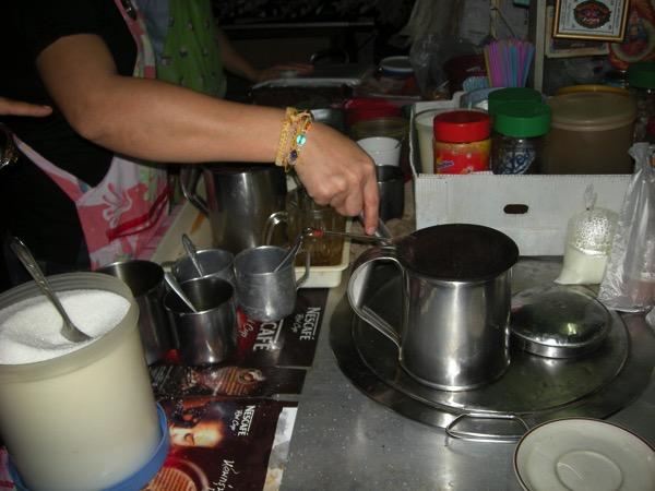 バンコク市場のコーヒー