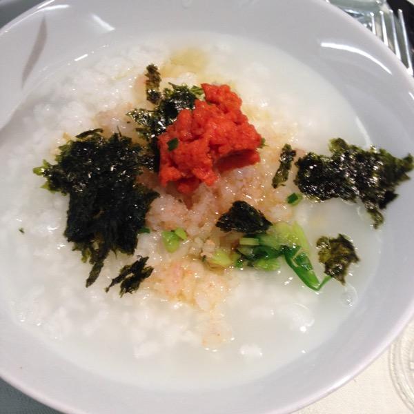 大韓航空機内食お粥