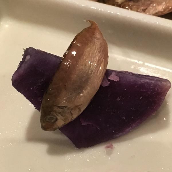 スクガラスと紫芋