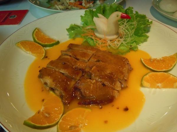 アヒルのオレンジソース