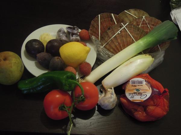 野菜と魚介類