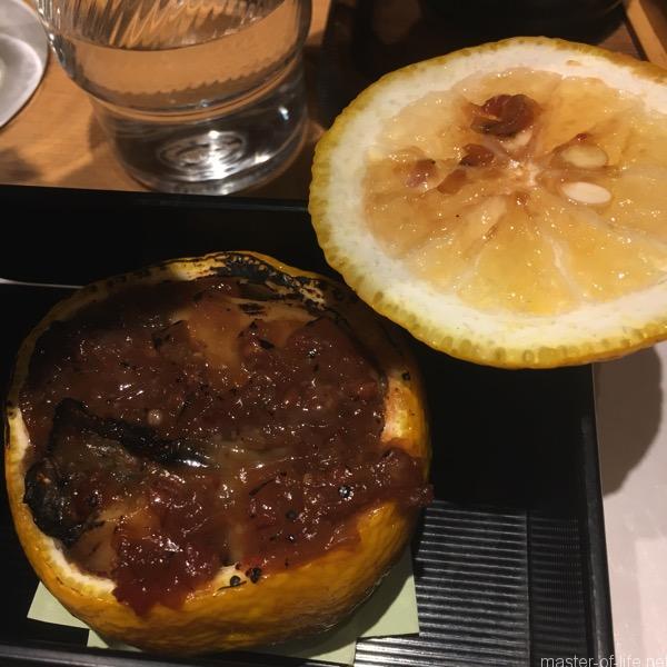 牡蠣の柚子味噌