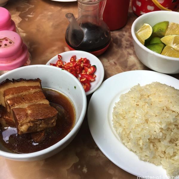 ベトナム風豚角煮ともち米
