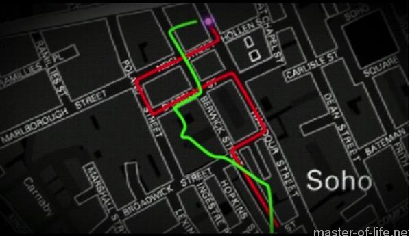 シャーロックタクシー追跡地図