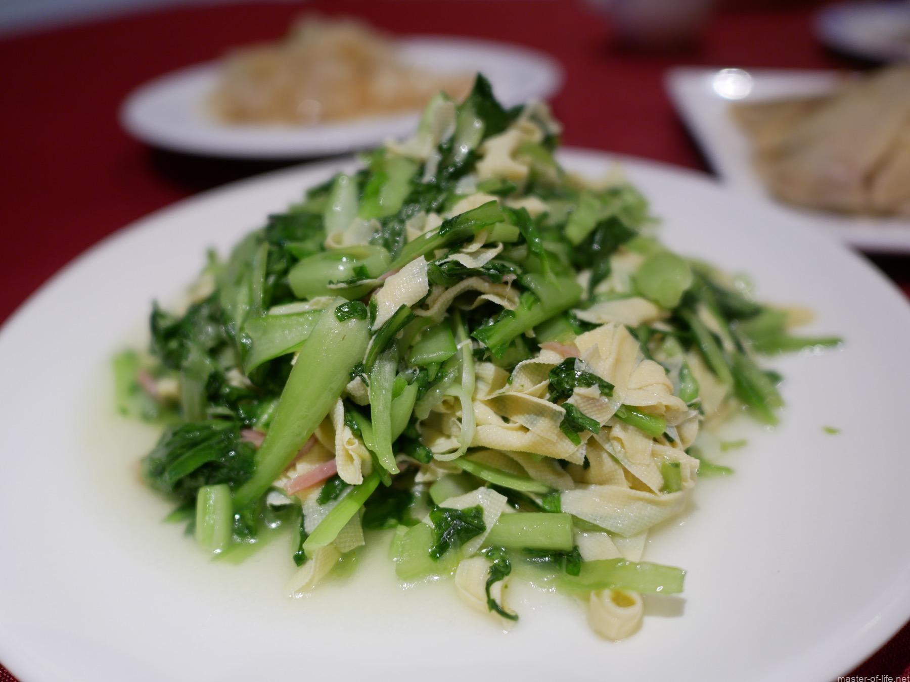 青菜とハム炒め