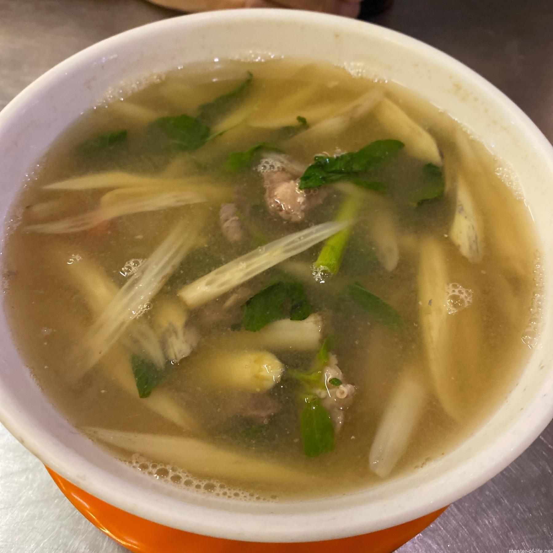 蓮の茎のスープ