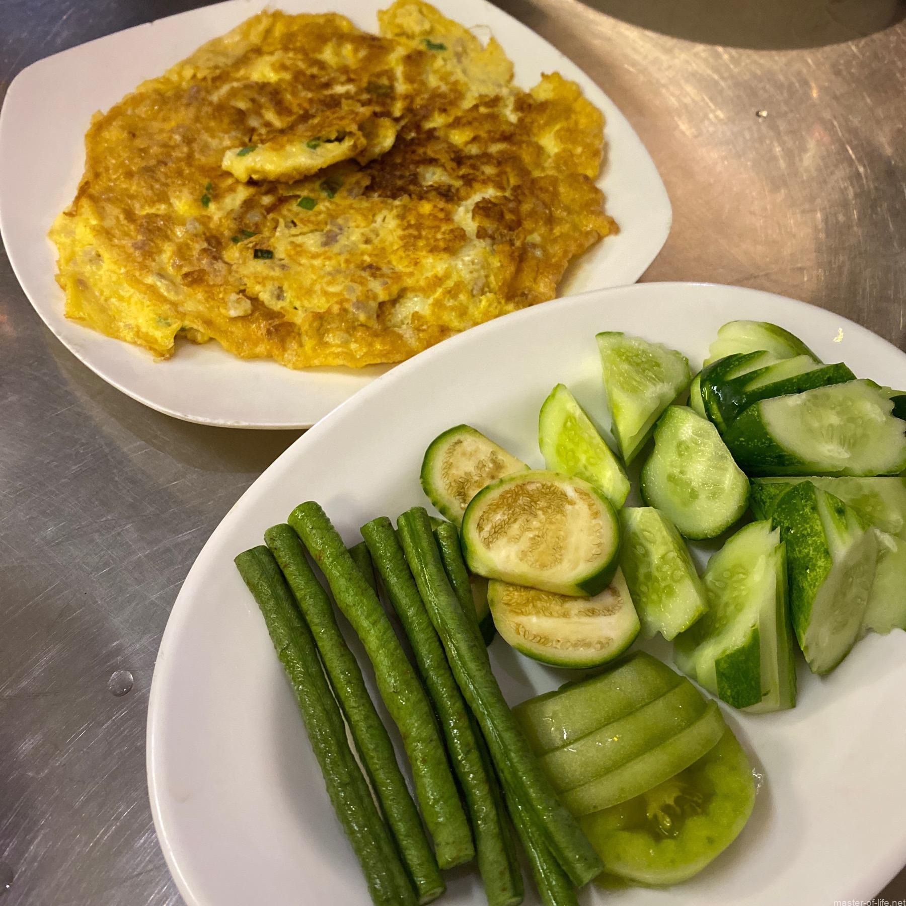 カンボジア卵焼き